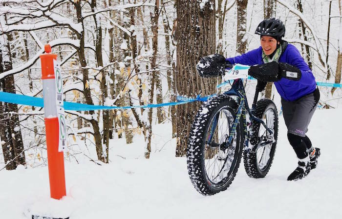 EmilieBrisson fatbike Bromont 2017 podium Photo courtoisie