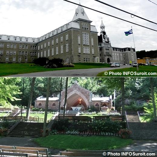 collegeBourget et sanctuaire ND-de-Lourdes a Rigaud Photos INFOSuroit