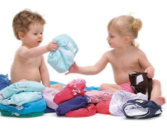 enfants avec couches lavables Photo Ville Valleyfield
