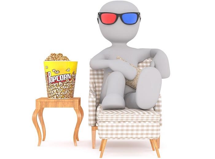 film 3D popcorn cinema lunette 3D Image 3dman_eu via Pixabay