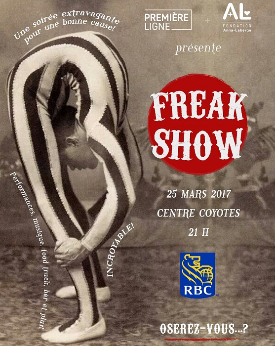 Affiche du FreakShow 2017 FondationAnnaLaberge