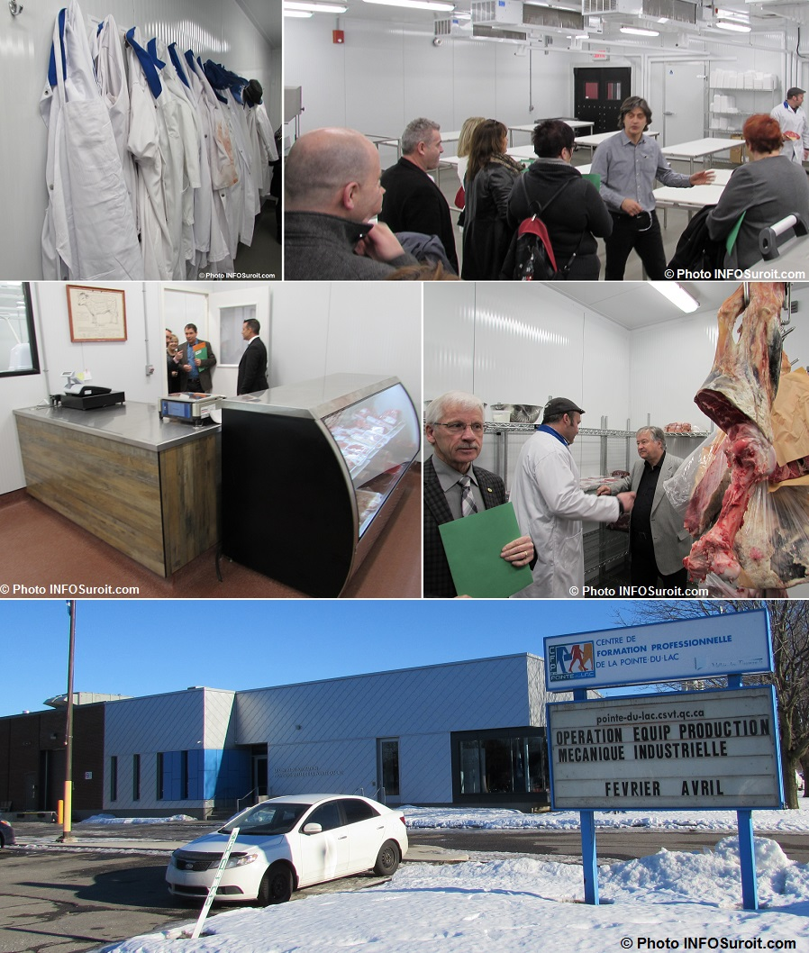 CFP Pointe-du-Lac Valleyfield visite des locaux Boucherie Photos INFOSuroit