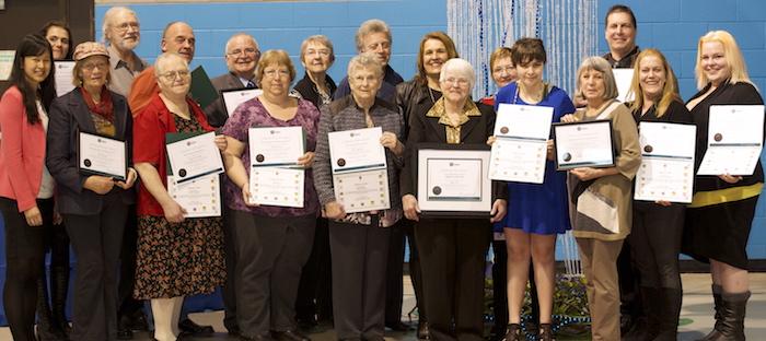 Gala reconnaissance en benevolat 2016 MRC Haut-St-Laurent laureats Photo courtoisie