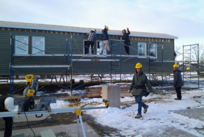 Habitat_pour_l_humanite maisons en contruction au CFPChateauguayValley a Ormstown