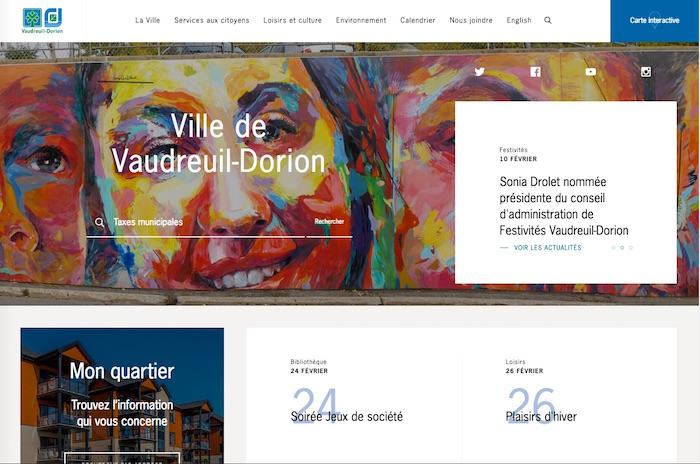 Nouveau site Internet Ville Vaudreuil-Dorion fev2017 capture ecran