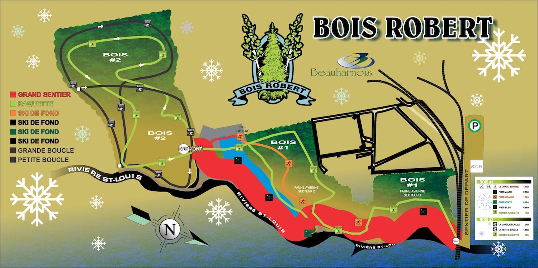 carte Bois Robert a Beauharnois sentiers hiver Image courtoisie