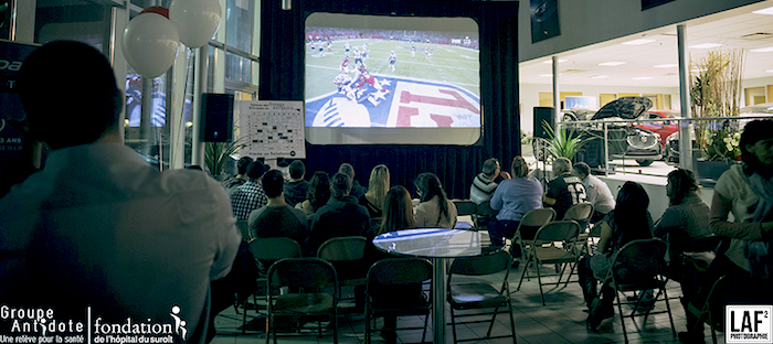 evenement superbowl groupe Antidote pour Fondation Hopital Photo LAF2