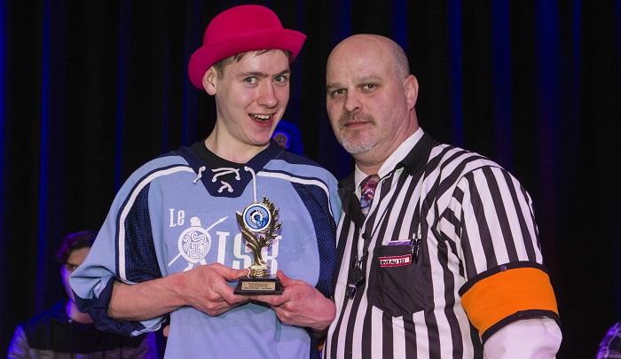 Impro tournoi Lanaudiere Marc-Antoine Bedard Joueur du tournoi Photo ColVal