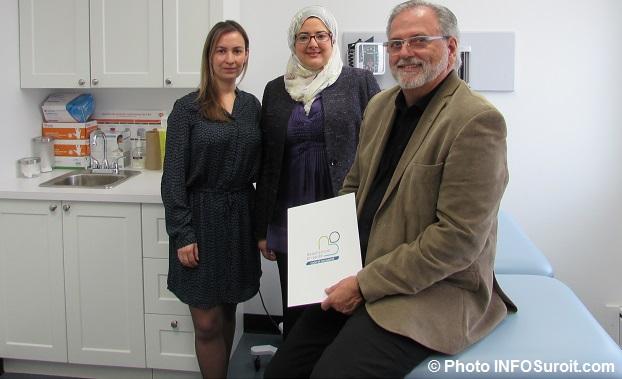 NancySoto dg coop sante Dre NabilaHemdani et ClaudeHaineault Photo INFOSuroit