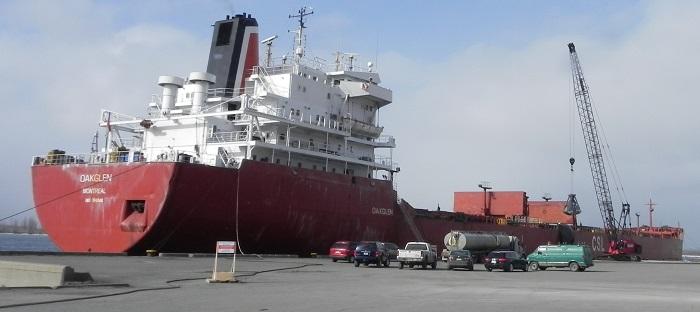 bateau cargo au Port de Valleyfield en 2011 Photo courtoisie Port-de-Valleyfield