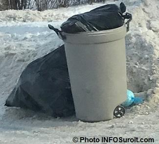sac a poubelles ordures bac hiver Photo INFOSuroit_com