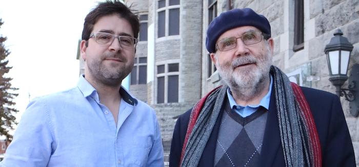 Clauderic_Provost et Jean-Pierre_Leduc devant Valspec avril 2017 Photo courtoisie Valspec