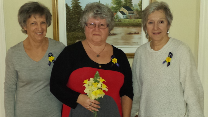 Jonquilles 2017 Valleyfield CarmenLeduc MariaPlantePoire et ThereseMajeau Photo SCC