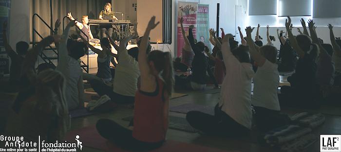 Fanny Bloom et 89 yogis pour la cause de la santé