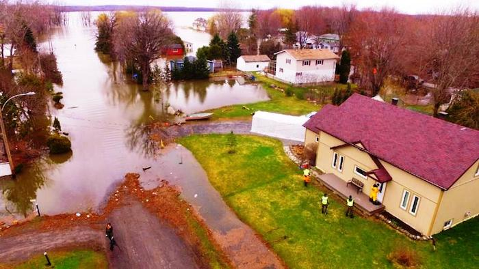 debordement riviere Outaouais Rigaud avril 2017 Photo courtoisie Ville Rigaud