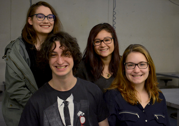 representants College de Valleyfield pour intercollegial arts visuels Photo courtoisie