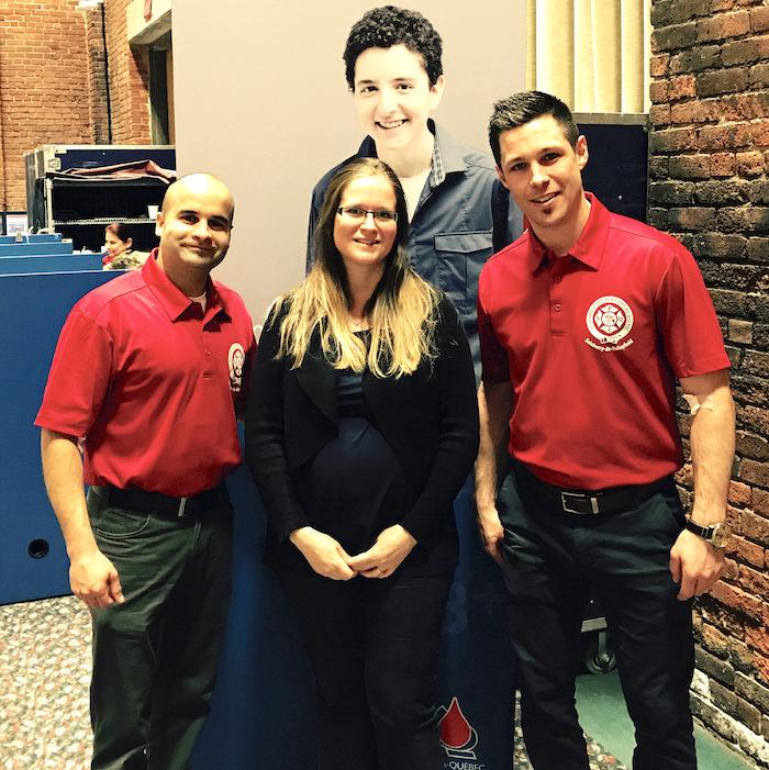 Collecte de sang 2017 des pompiers de la ville de Valleyfield Photo courtoisie