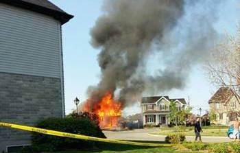 Incendie maison de Mercier en 2017 Photo courtoisie Ville Mercier