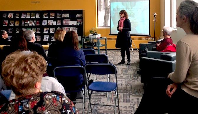 conference MarieMartel 29mars2017 bibliotheque Armand-Frappier Valleyfield Photo courtoisie MRC
