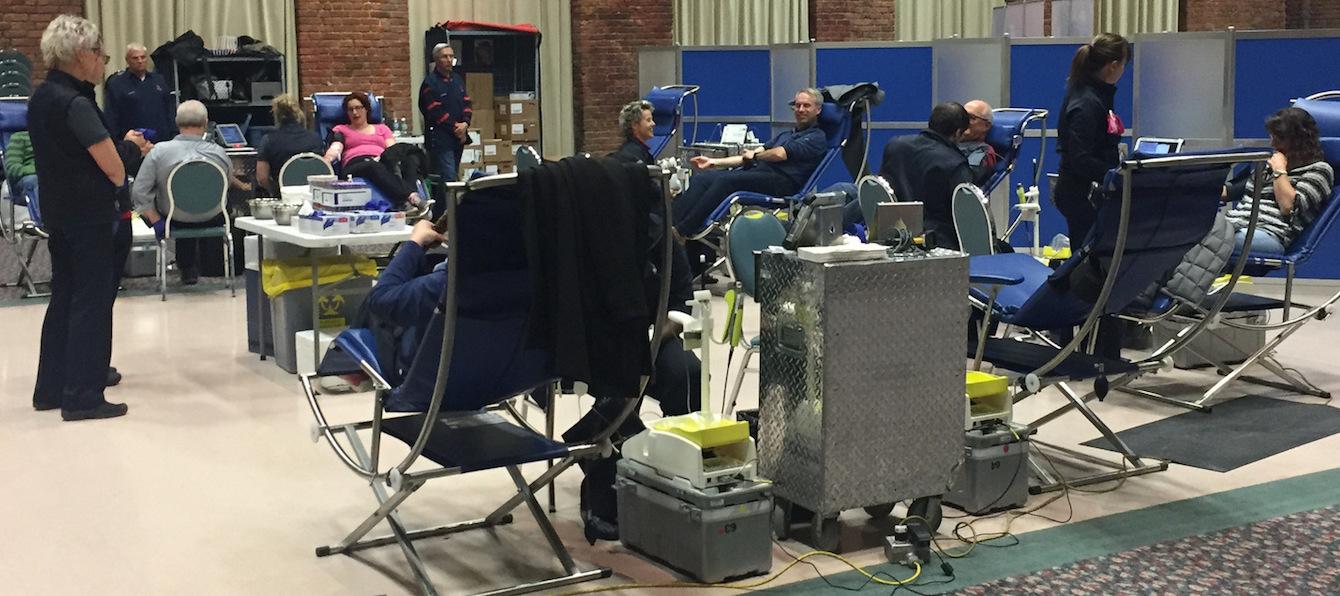 donneurs de sang collecte des pompiers de Valleyfield 2017 Photo courtoisie