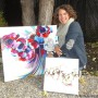 Ça vaut de l'or: Karine Dagenais, artiste-peintre mordue de vélo