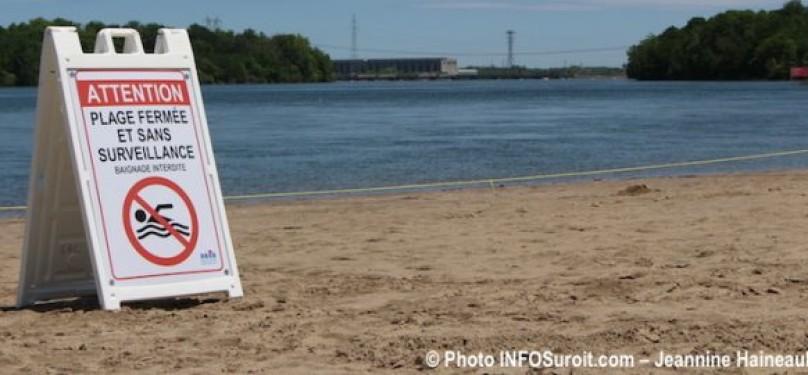 L'ouverture de la plage du Parc régional des Îles-de-Saint-Timothée retardée