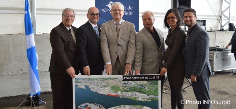 Les gouvernements s'unissent pour l'agrandissement du port de Valleyfield