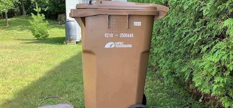 Bac brun : les collectes seulement à partir du 30 septembre
