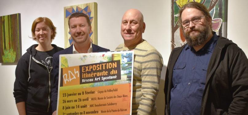 Le Réseau Art Spontané entame son exposition itinérante au Collège de Valleyfield