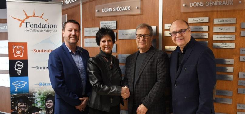Fondation du Collège de Valleyfield : don de 45 000 $ du Fonds Famille Michel Vinet