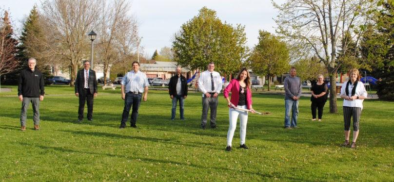 Début des travaux d'aménagement de jeux d'eau au parc des Sorbiers de Mercier