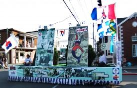 Défilé de la St-Jean - Jeux du Qc 1974 - Photo INFOSuroit.com