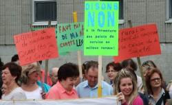 Manifestation 28 juin en appui au CLSC de Ste-Martine - Photo INFOSuroit.com