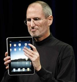 Steve Jobs d'Apple et le iPad