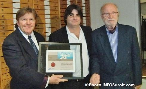 JP_Gaboury Conseil de la culture MRC avec le laureat Stefane_Bougie et Reynald_Piche Photo INFOSuroit_com