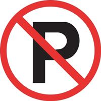 Stationnement interdit No Parking panneau de signalisation municipal publie par INFOSuroit
