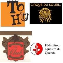 TOHU Cirque_du_Soleil Le_Club Federation_equestre Qc logos