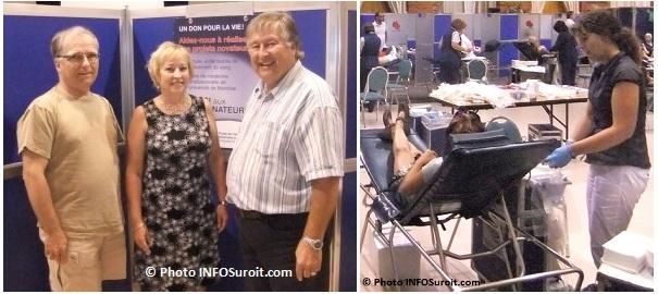 collecte_de_sang Emile_Duhamel Lilian_Baldwin maire Valleyfield Denis_Lapointe avec donneurs 2010 photo INFOSuroit