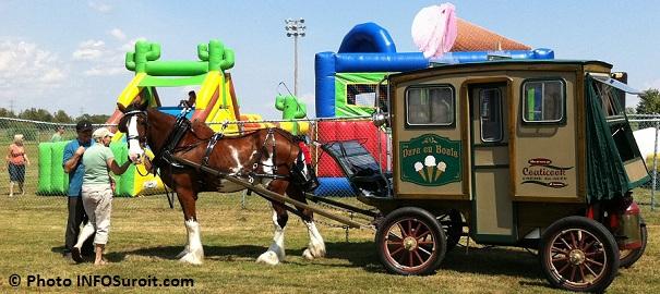 jeux gonflables cheval et creme_glacee fete familiale Riviere-Beaudette Photo INFOSuroit_com