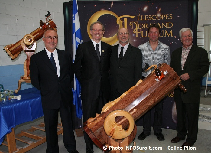 Luc_Many Yvon_Marcoux Normand_Fullum et Francois_St-Martin photo INFOSuroit Celine_Pilon