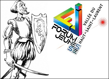 don-Quichotte-et-Forum-jeunesse-Vallee-du-Haut-Saint-Laurent-logos