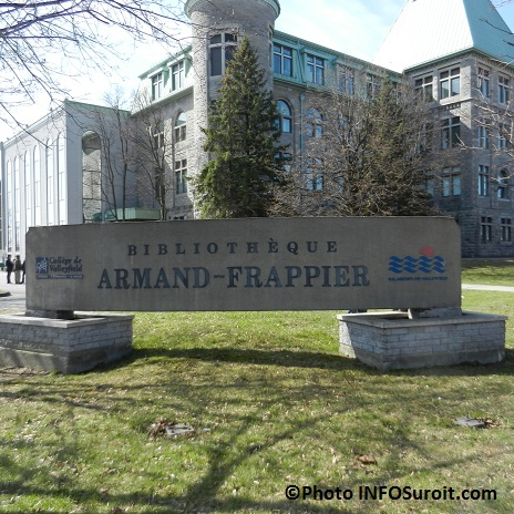 Bibliotheque Armand-Frappier a Valleyfield avec College Photo INFOSuroit_com