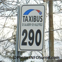 Taxibus Valleyfield enseigne Photo INFOSuroit_com