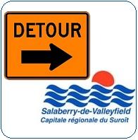 Valleyfield-Travaux-pancarte-detour-et-logo-de-la-ville-image-publiee-par-INFOSuroit-com_