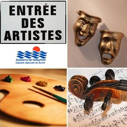 Valleyfield-entree-artistes-theatre-peinture-musique-violon-Images-CPA-publiees-par-INFOSuroit-com_