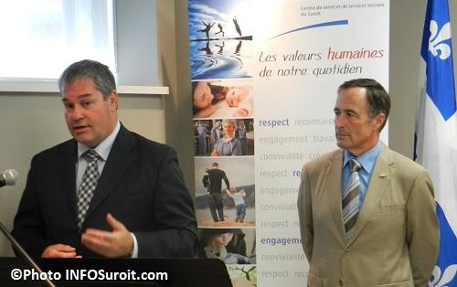 Ministre-de-la-sante-Yves-Bolduc-et-Francois-Rabeau-du-CSSS-du-Suroit-Photo-INFOSuroit-com_