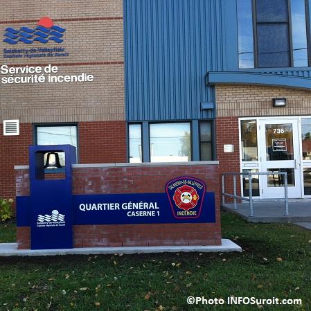 Identification casernes Securite incendie Valleyfield Quartier general Photo INFOSuroit-com_