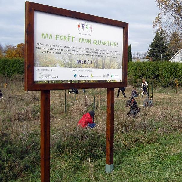 Ma-Foret-mon-quartier-Plantation-arbres-avec-jeunes-ecole-N-D-de-l-Assomption-Projet-Heritage-St-Bernard-Chateauguay
