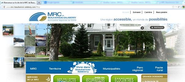 Nouveau-site-Internet-MRC-Beauharnois-Salaberry-Capture-ecran-INFOSuroit-com_