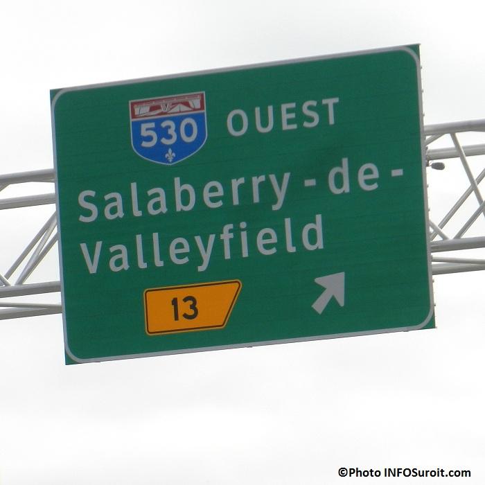 Panneau-signalisation-Autoroute-sortie-13-Valleyfield-Photo-INFOSuroit-com_